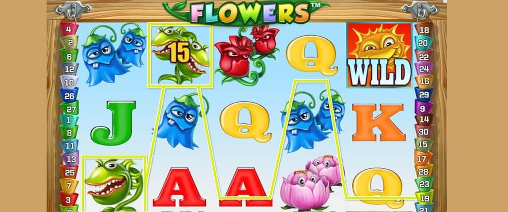 Flowers hedelmäpeli